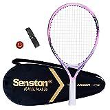Senston Children's / Youth Tennis Racket One-Piece Design Tennis Racket Set with ...