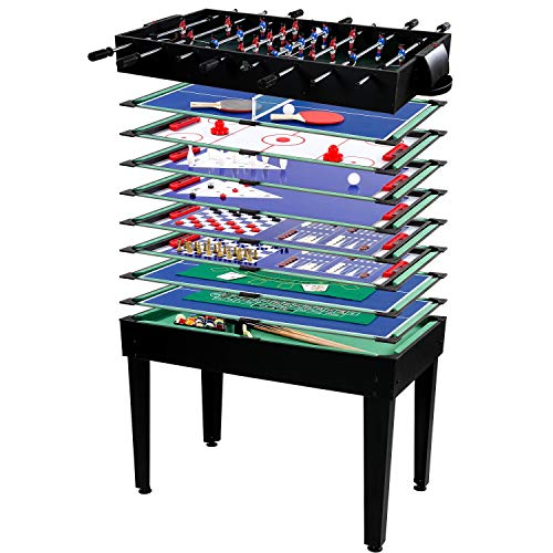 Maxstore Multigame Spieletisch Mega 15 in 1, inkl. komplettem Zubehör,...