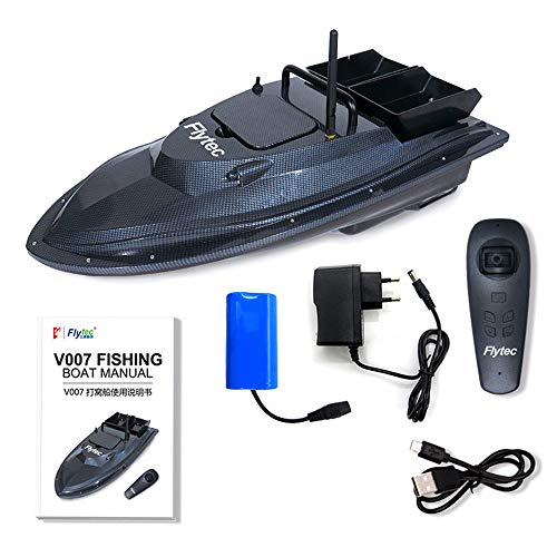 Flytec V007 Outdoor RC Boot Fischen Nisten Feste Geschwindigkeit Gierkorrektur Schiff Starker Windwiderstand LED Boot Suchscheinwerfer 1,5 kg Beladung...