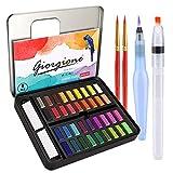 DIAOPROTECT Aquarellfarben,36 Wasserfarben Set,Aquarellfarben Kasten mit 8...