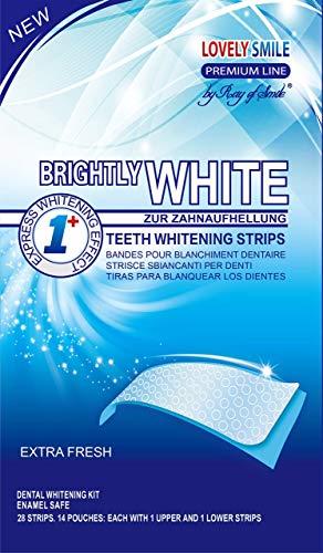 Lovely Smile | 28 WHITE-STRIPS Bleaching Stripes Zahnaufhellung-Streifen | mit...