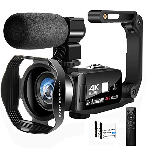 Camcorder Videokamera Full HD Camcorder 4K 48.0MP IR Nachtsicht Vlogging Kamera...
