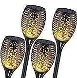 4 шт. Солнечные садовые фонари, 96 светодиодов, водонепроницаемые мерцающие ...