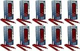 200 selbstlöschende Baumkerzen, 124 x 12 mm, Rot,...