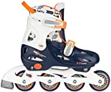 Nijdam Children's Inline Skates Adjustable Inline Skates Junior Adjustable Hardboot, Navy Blue / White / Orange, ...