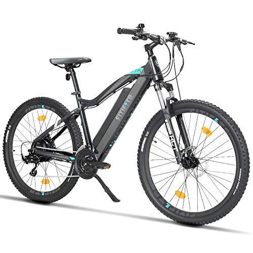 Fitifito MT27,5 Plus-48V Zoll Elektrofahrrad Mountainbike E-Bike Pedelec, 48V 13Ah 624Wh Samsung Cells Lithium-Ionen USB, 48V 250W Heckmotor, 21 Gang...