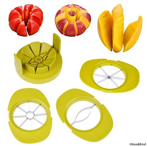 Apfel / Tomate / Mango Schneider - 3er Set - Stabile Basis hält Obst / Gemüse an Ort und Stelle - Bewahrt zudem die Schneider organisiert -...
