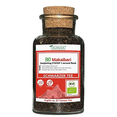 AURESA Bio Makaibari Tee im Glas | Schwarztee Darjeeling - 100g |...