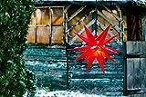 Novaliv Weihnachtsstern 3D LED Rot 55 cm 18 Zacker...