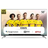 CHiQ U50H7A Randloser Android UHD LED Fernseher 50 Zoll TV 4k Randlos Smart TV...