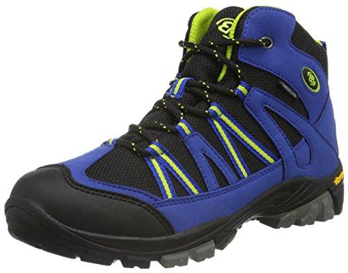 EB kids OHIO HIGH, Jungen Trekking- & Wanderstiefel, Blau (Blau/schwarz/lemon), 38 EU (4.5 Kinder UK)