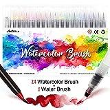 Amteker Pinselstifte Aquarell - 24+1 Brush Pen Set...