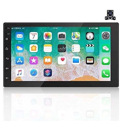 Android 9.1 7 '' HD 2 Din Autoradio Radio Bluetooth FM mit USB/AUX-Eingang/Cinch...