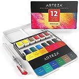 Arteza Aquarellfarben, Aquarellfarbkasten mit 12 lebendigen Farben,...