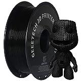 GEEETECH PLA Filament 1,75 mm, 1kg Spool, 3D Drucker PLA + Filament, schwarz