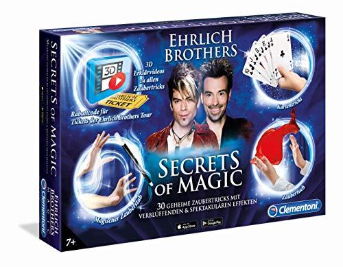 Clementoni 59048 Ehrlich Brothers Secrets of Magic, Zauberkasten für Kinder ab 7 Jahren, magisches Equipment für 30 verblüffende Zaubertricks,...