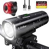 LIFEBEE LED fietsverlichtingsset, USB oplaadbaar 600 lumen ...