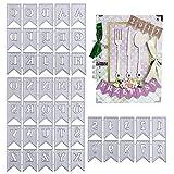 VINFUTUR 2 Set Stanzschablonen Buchstaben und Zahlen Etikett, Metall Prägeschablonen Banner Stanzmaschine Stanzformen Schneiden für DIY Scrapbooking...