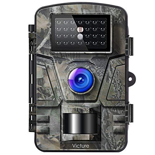 Victure Wildkamera mit Bewegungsmelder Nachtsicht Fotofalle 16MP 1080P Full HD...