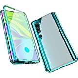 Jonwelsy Case for Xiaomi Mi Note 10 / CC9 Pro, Magnetic Adsorption Metal Bumper Flip Cover with 360 Degree Protection Double Sides Transparent ...