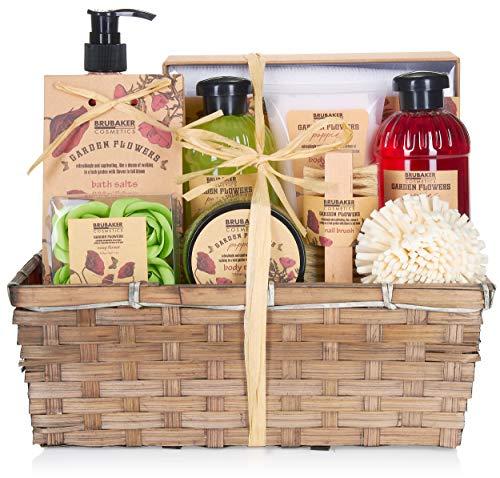 BRUBAKER Cosmetics Bade- und Dusch Set Mohnblumen Duft - 14-teiliges Geschenkset...
