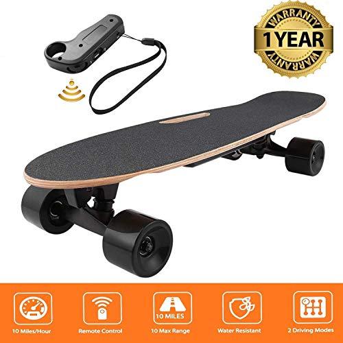 Oppikle Elektro Longboard E Skateboard Elektrisches City Scooter Elektrolongboard mit Fernbedienung und Motor - Reichweite Ca 10 km - Geschwindigkeit...