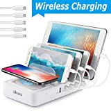 allcaca Wireless Charger Multi Ladestation 5 USB Ports...