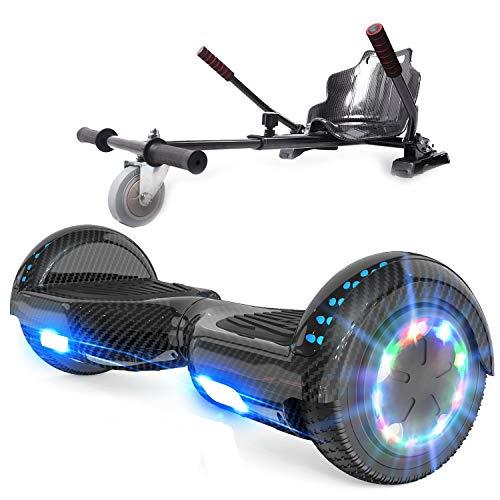 RCB hoverboard med sete og hoverkart sett 6,5 tommer elektrisk skateboard for ...