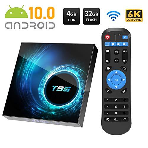 Android TV Box, T95 Android 10.0 TV Box 4GB RAM/32GB ROM Allwinnner H616...