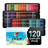 120 Aquarellstifte Zenacolor, Nummeriert - Set mit...