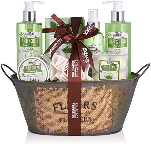 BRUBAKER Cosmetics Bade- und Dusch Set Aloe Vera - 11-teiliges Geschenkset in...