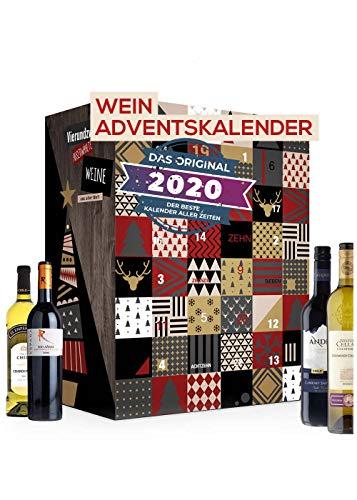 Wein Adventskalender mit 24 außergewöhnlichen Weinsorten...