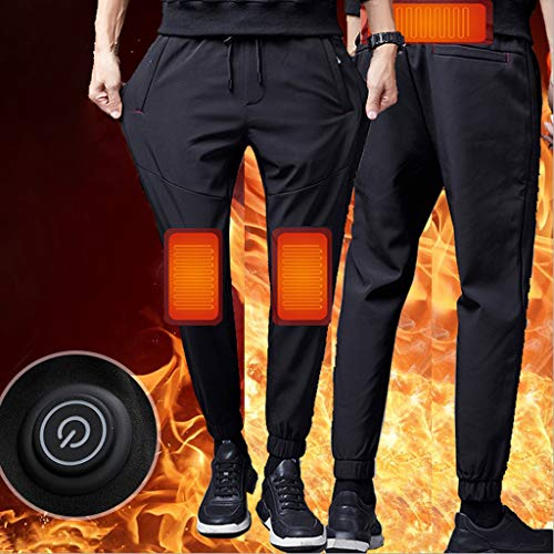 Dasongff Beheizte Hose Herren Elektrische Heizhose Waschbare USB Intelligent Thermostat Knie warme Hose Waschbare 3-Gang-Temperaturanpassung Winter...