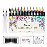 WOTEK Pinselstifte Set Brush Pen 48er,Aquarellstifte 24...