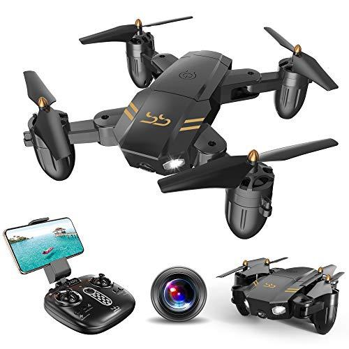 ScharkSpark Drohne Guard für Anfänger, Drohne mit FPV HD Kamera/Video, Tragbarer RC-Quadcopter, 2,4 G 6-Achsen Kopflos-Modus Höhe halten...