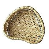 Fablcrew korg bambukorg, vävd spånkorg, hjärtformad ...