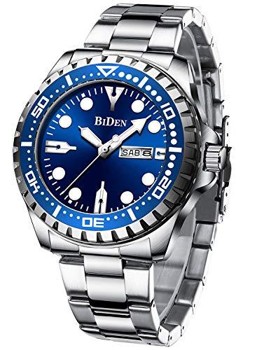 Men's Watch Analog Quartz Business Black Dial Waterproof Date Big Luminous Wristwatch ...