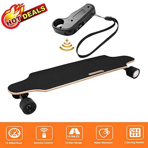 fiugsed Elektrisches Skateboard - 27,5 Zoll Longboard Skateboard mit Funkfernbedienung auf Vier Rädern,Höchstgeschwindigkeit 20km/h zu Senden des...