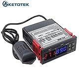 KETOTEK temperatuur vochtigheid controller relais 220V 230V, temperatuur controller vochtigheid controller met temperatuur vochtigheid sensor sensor, hygrostaat ...