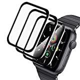 A-VIDET 3 pieces protective film compatible with Apple Watch Series 6 / SE / Series 5 / Series 4 44mm film, ...