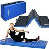 EYEPOWER 8cm thick gym mat for home - 200x100 folding exercise mat - children's soft floor mat