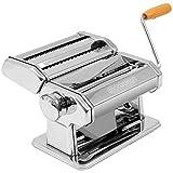 Monzana Nudelmaschine aus Edelstahl Pasta Maker Frische manuelle Pasta Walze...