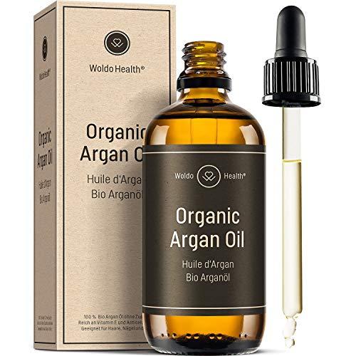 Bio Arganöl kaltgepresst ohne Zusätze - 100ml Argan Öl mit Pipette