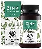 NATURE LOVE® zink - 365 tabletten (1 jaar) - hoge dosis ...
