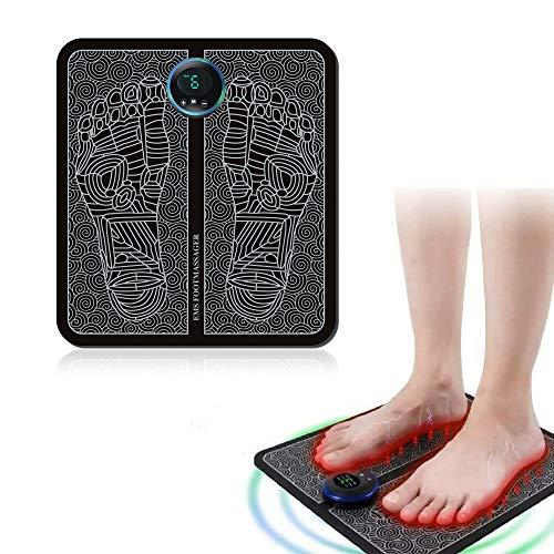 DFGHA EMS Beinumformungs-Fußmassagegerät, Tragbare Elektrische Massagematte,...