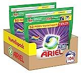 Ariel Detergent Pods All-in-1, Color Detergent, 104 ...
