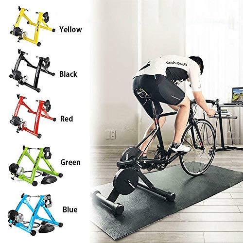 SZYM Fahrradtrainer, Fahrrad Rollentrainer Fahrrad Übung Magnetischer Ständer, 6-Gang-Magnetwiderstand mit variablem Widerstand,...