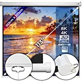 Beamerleinwand 203x203cm - in verschiedenen Größen mit und ohne Stativ, einfache Montage, Format 1:1, 4:3, 16:9, HD 4K 3D - Rolloleinwand,...