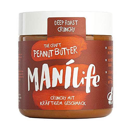 ManiLife - Deep Roast Crunchy Peanut Butter - Erdnussbutter aus kräftig...