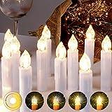 LED-kerstkaarsen Snoerloze kaarsen Kerstboomkaarsen ...